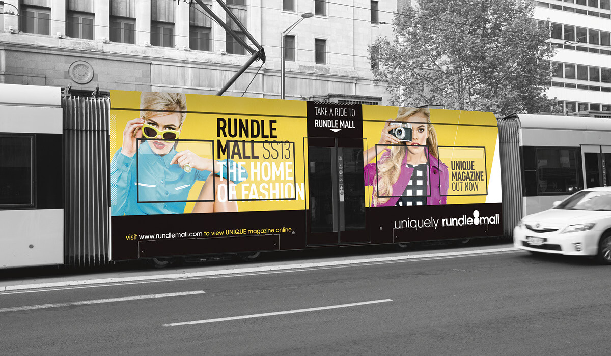 rundle mall signage by algo mas
