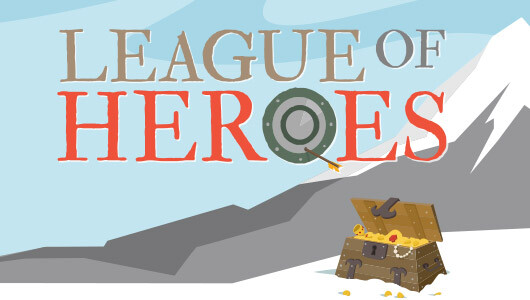 league of heroes logo design