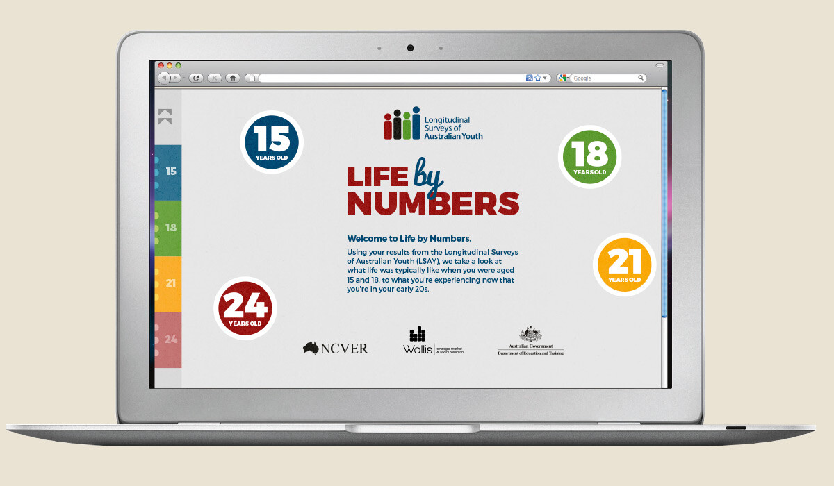 life by numbers website design