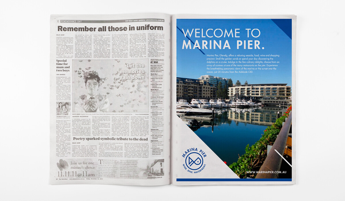marina pier branding by algo mas