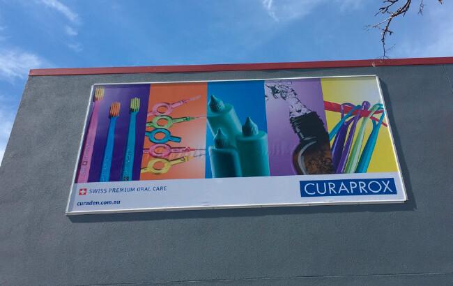 curaden building signage designed by algo mas