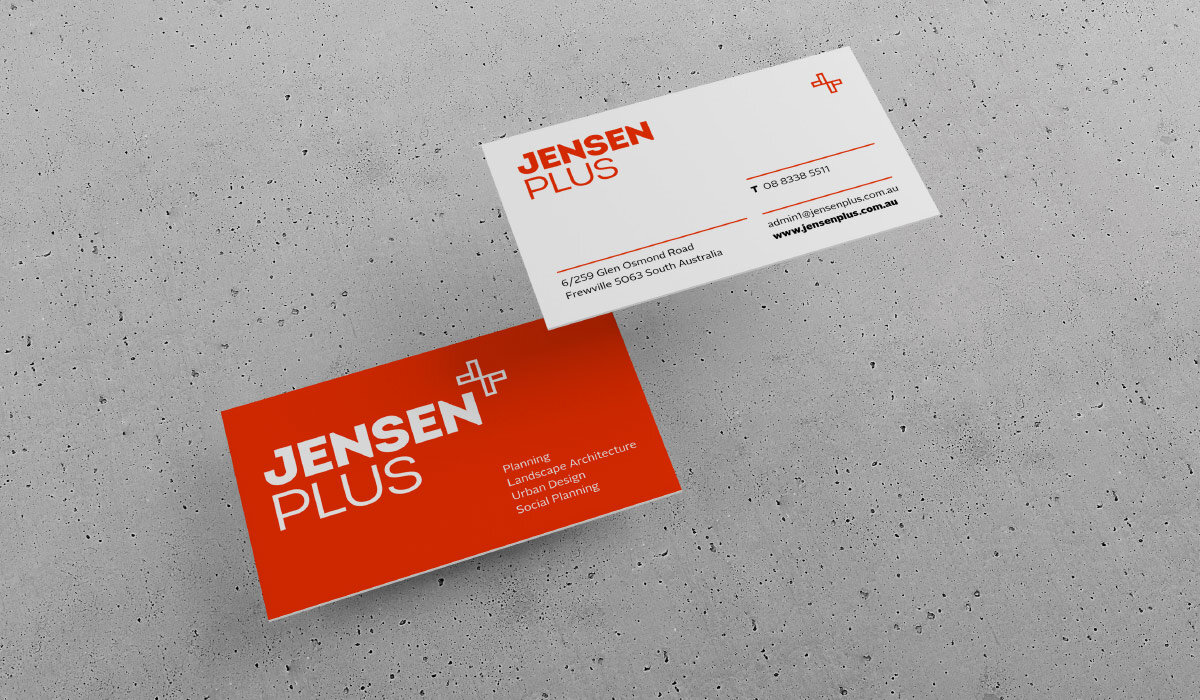 jensen plus business cards