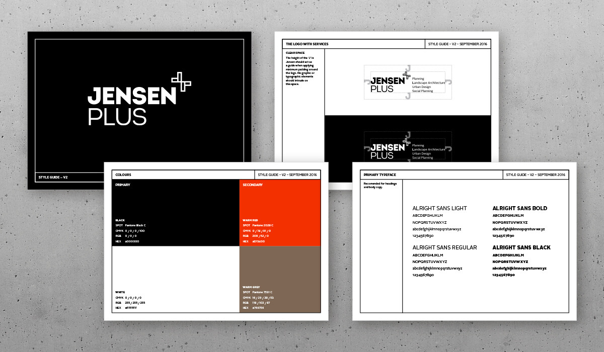 jensen plus branding by algo mas