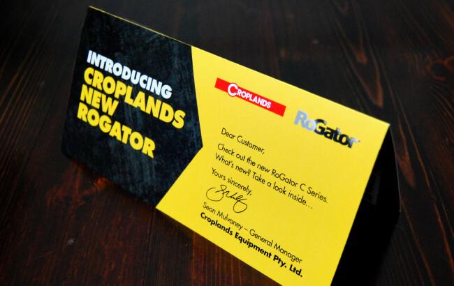 croplands business cards designed by algo mas
