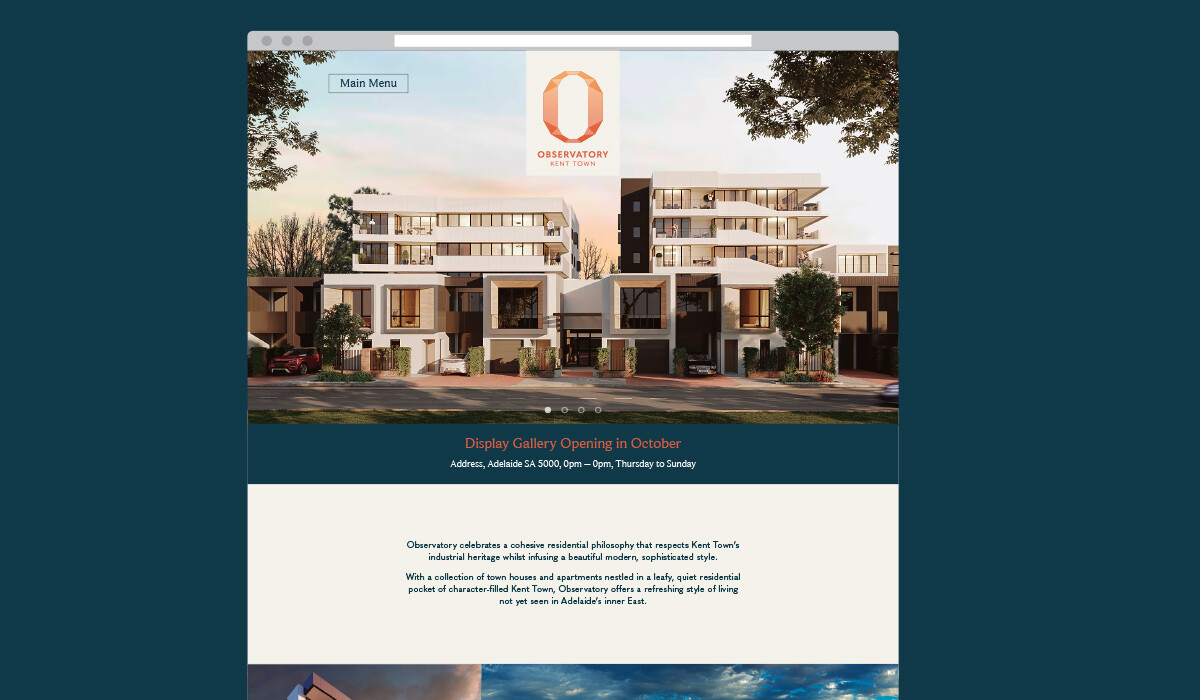 observatory website design by algo mas