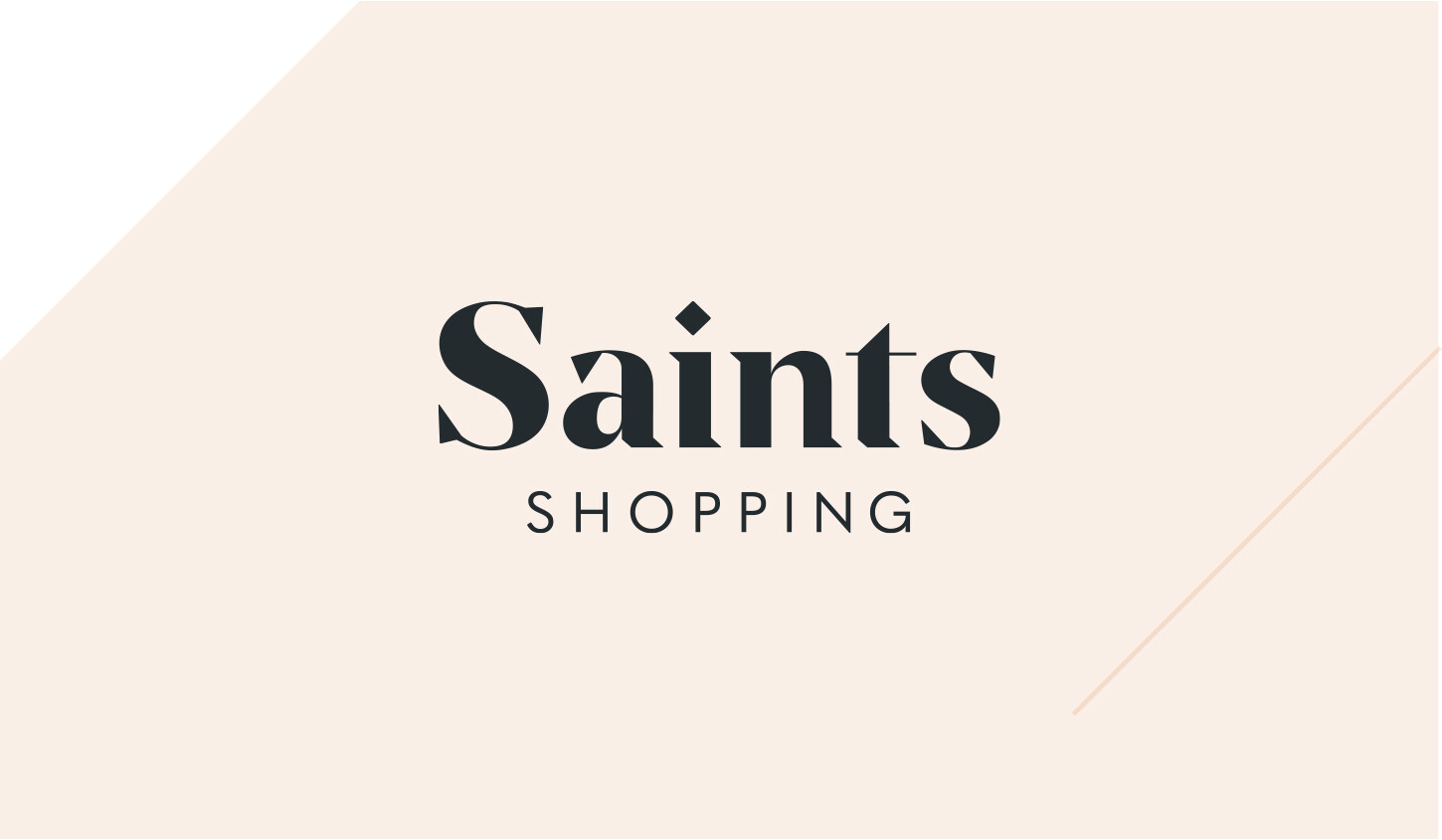 saints shopping logo designed by algo mas