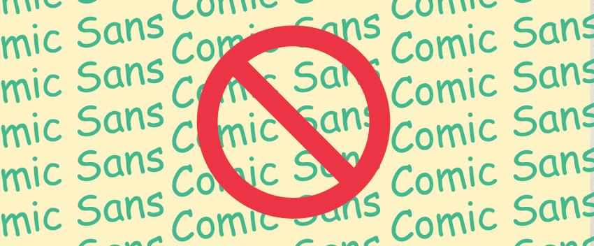 comic sans sucks adelaide graphic design blog icon