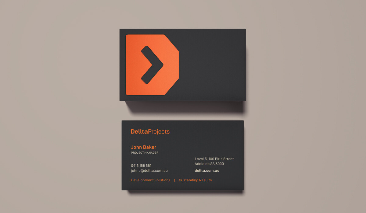 delta projects business cards