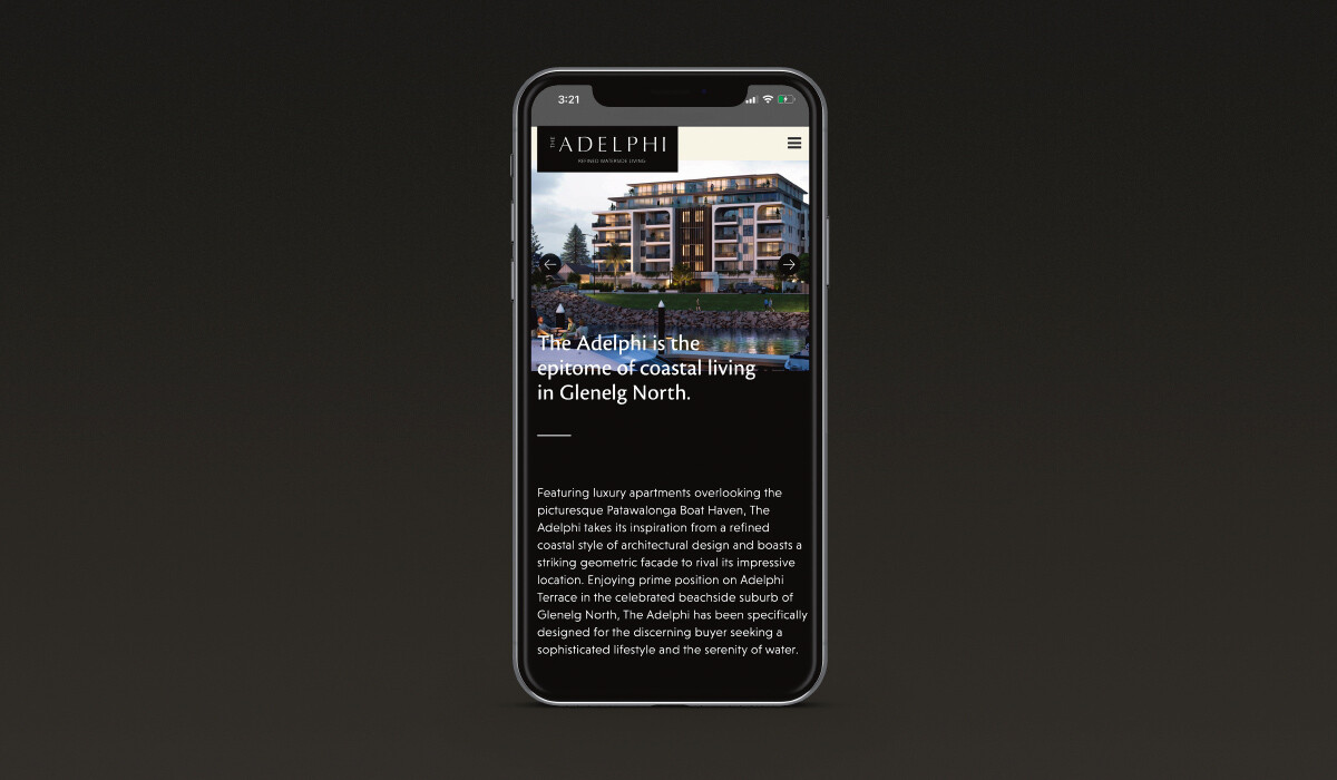 glenelg web development mobile view