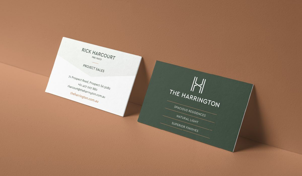 Adelaide Property Branding The Harrington Business Card