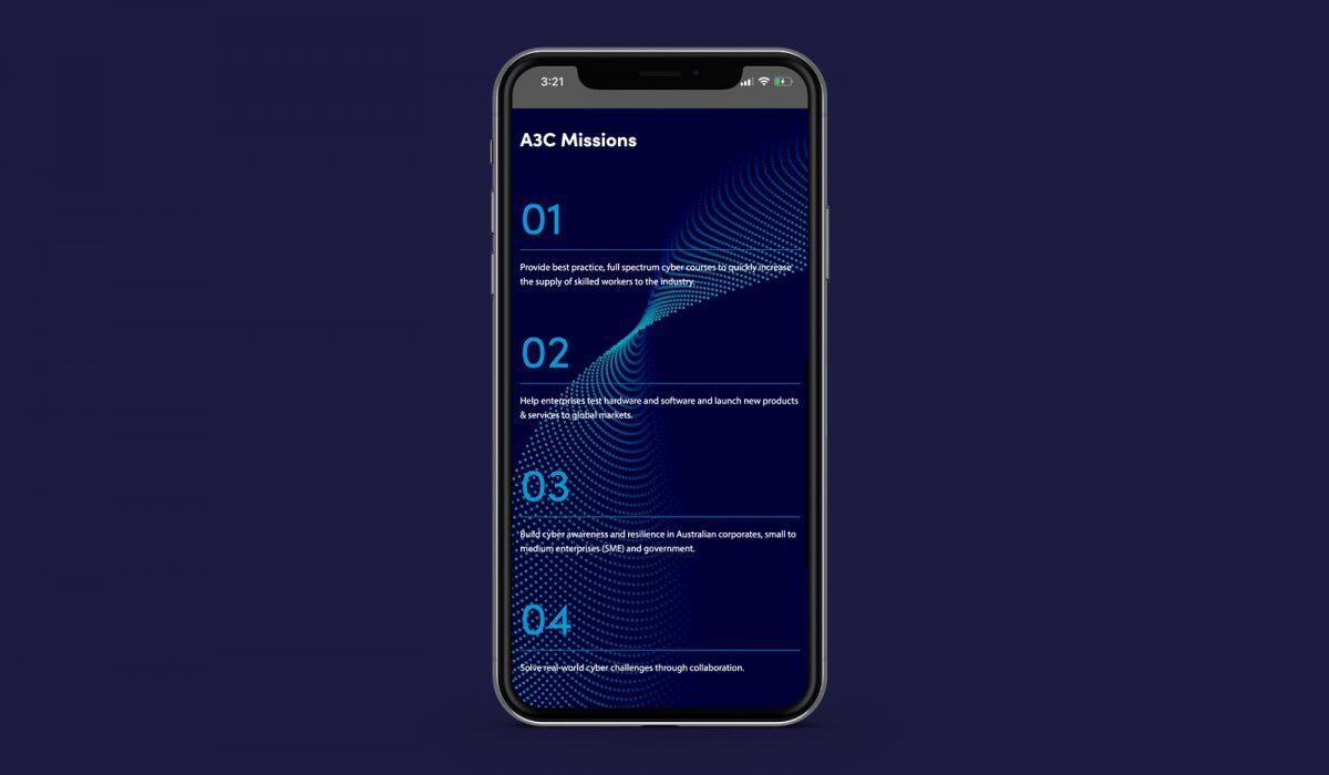 Adelaide Government A3C Website Design for Mobile